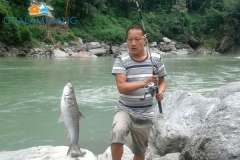 Angling at Green beach,  Chalamthang