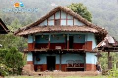 200 year old mud house at Chalamthang