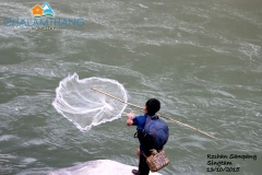 Traditional fishing near Chalamthang
