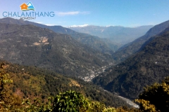 View from our machaan at Chalamthang Home Stay