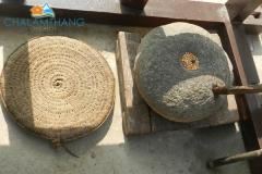 Traditional grinding stone at Chalamthang homestay